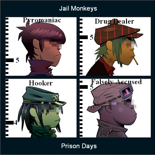 album cover parodies of gorillaz demon days