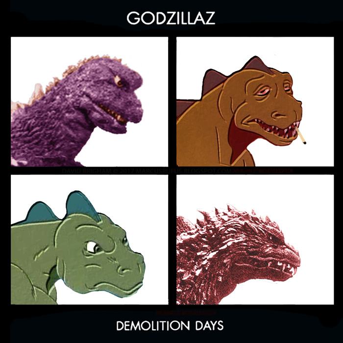 Album cover parody of Demon Days by Gorillaz