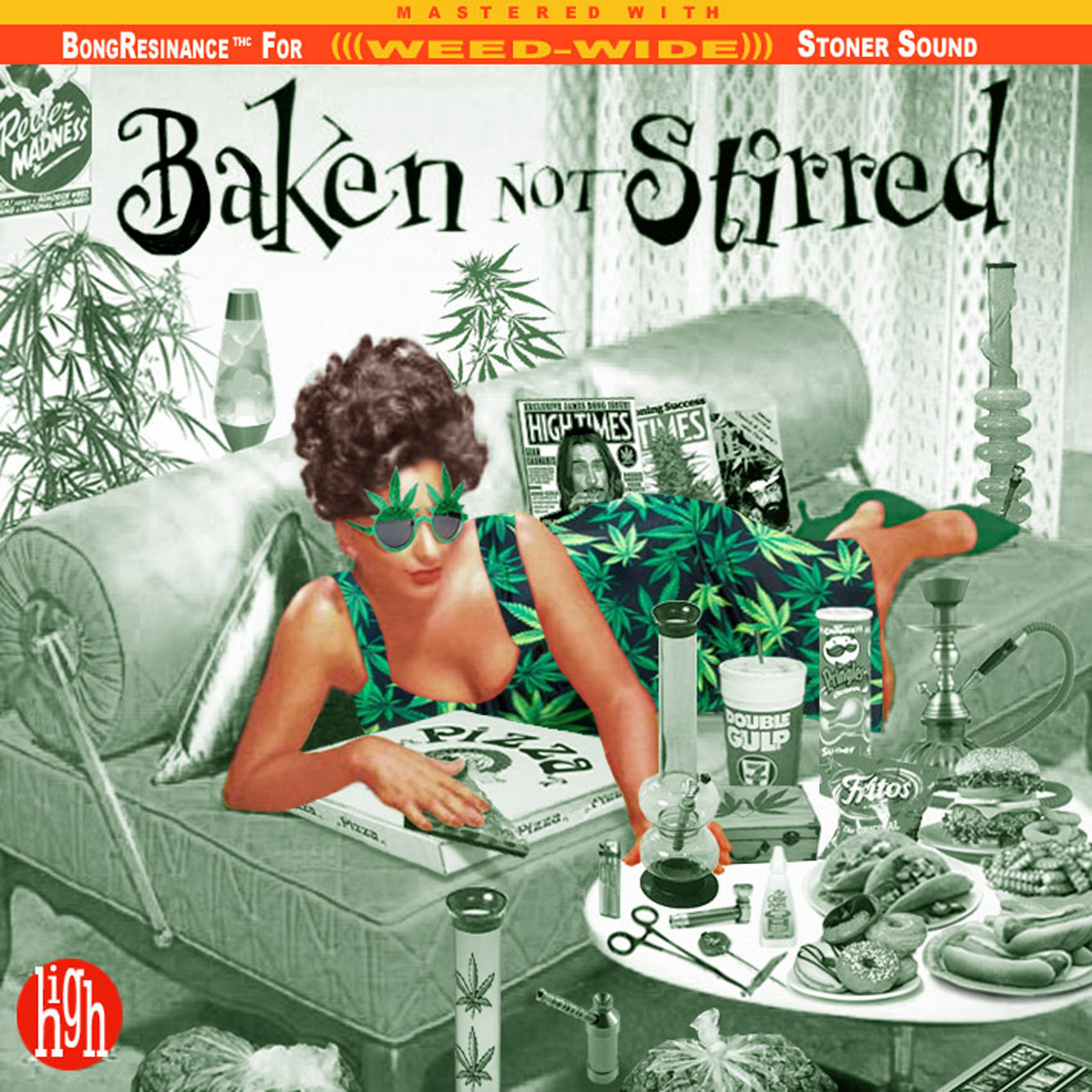 Album cover parody of Shaken Not Stirred by VARIOUS ARTISTS (1996-02-27) by James Bond themes