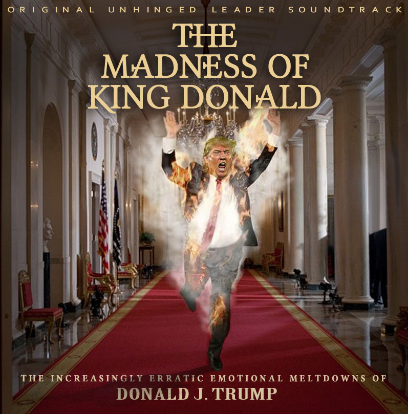 Album cover parody of The Madness of King George (The Original Motion Picture Soundtrack) by Original Motion Picture Soundtrack