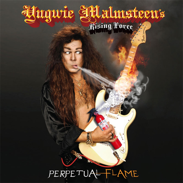 Album cover parody of Perpetual Flame by Yngwie Malmsteen
